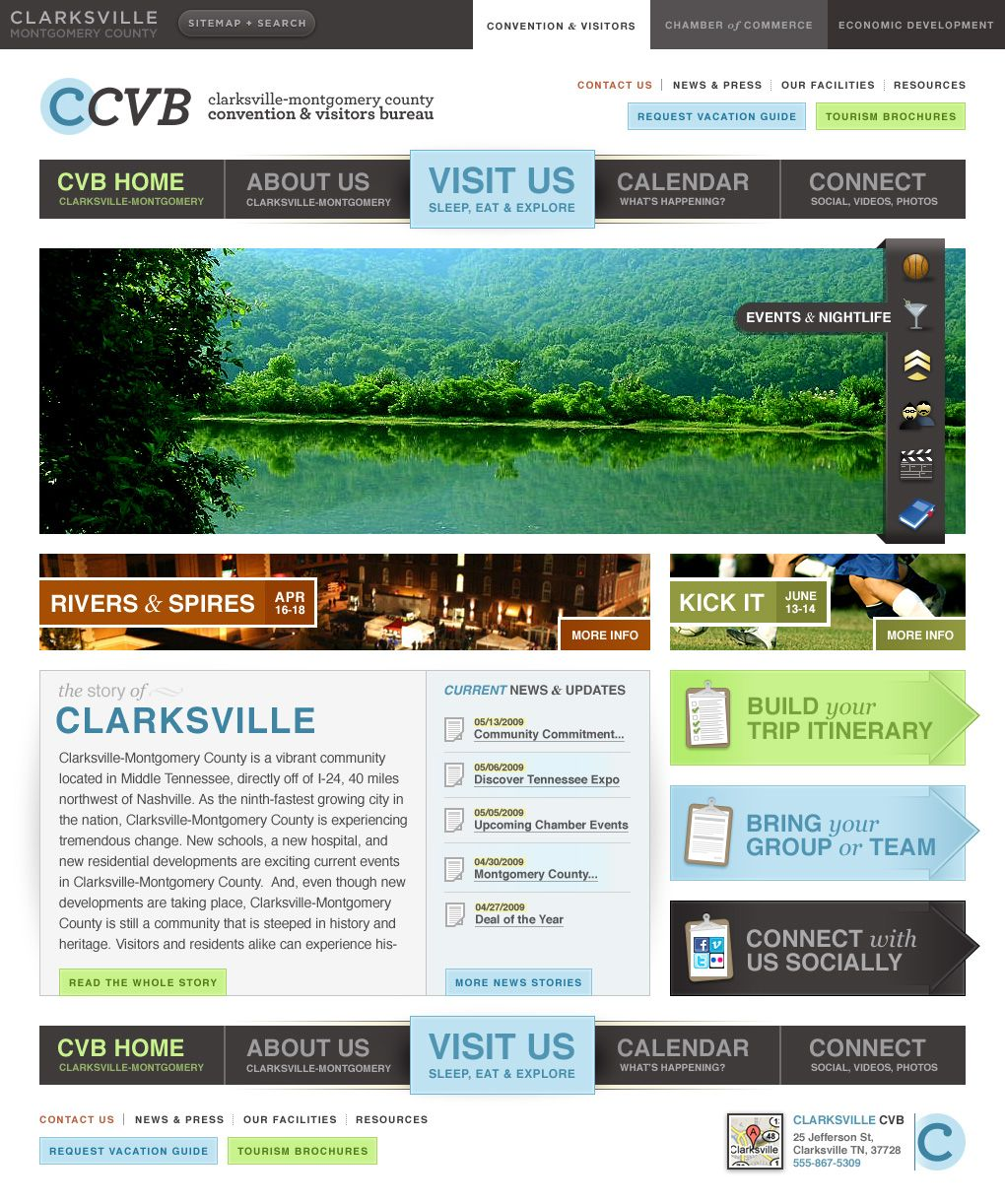 Homepage Design First Draft